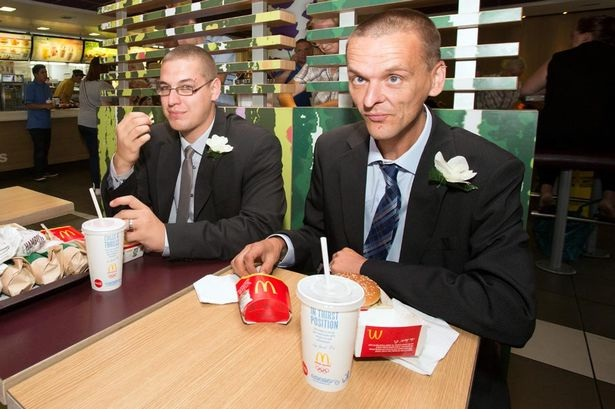 Not impressed?-Pics Of People Getting Married In McDonalds