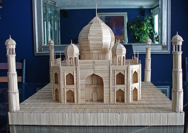 Taj Mahal-12 Creative Toothpick Art Models Ever Made