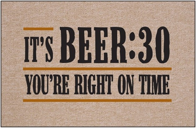 Beer On Time-12 Creative And Funny Doormats Ever