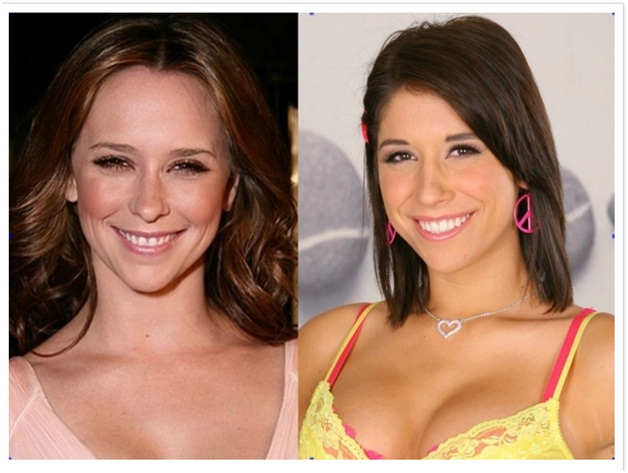 Jennifer Love Hewitt Vs. Miley Ann-Celebrities & Their Pornstar Lookalikes