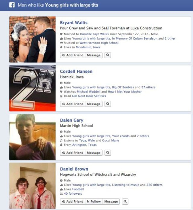 At Least They Are Being Honest-Funny Facebook Graph Searches