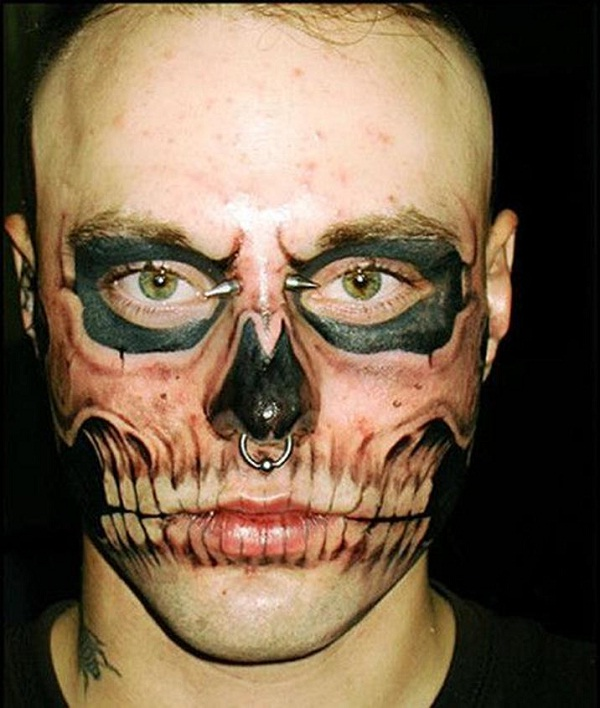 Scary Dude!-Wackiest Anatomical Tattoos