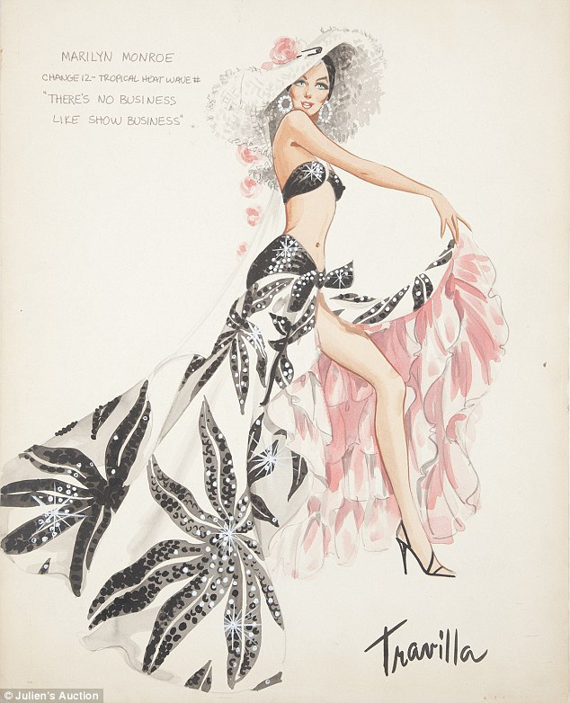 Marilyn's Dress Sketches-Bizarre And Insanely Expensive Auctions