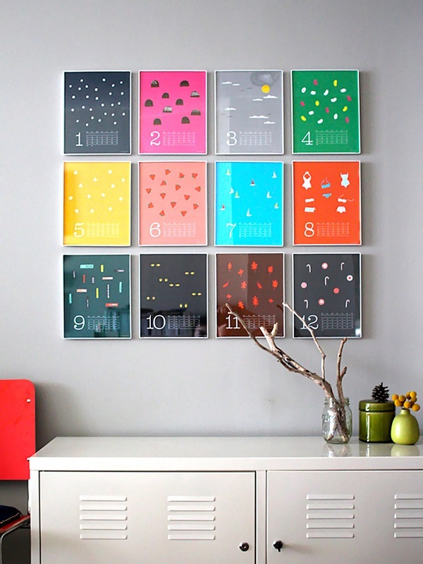 Funky Calendar-Creative DIY Wall Decor