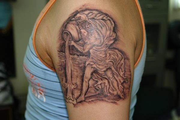 Aquarius-Best Zodiac Tattoos