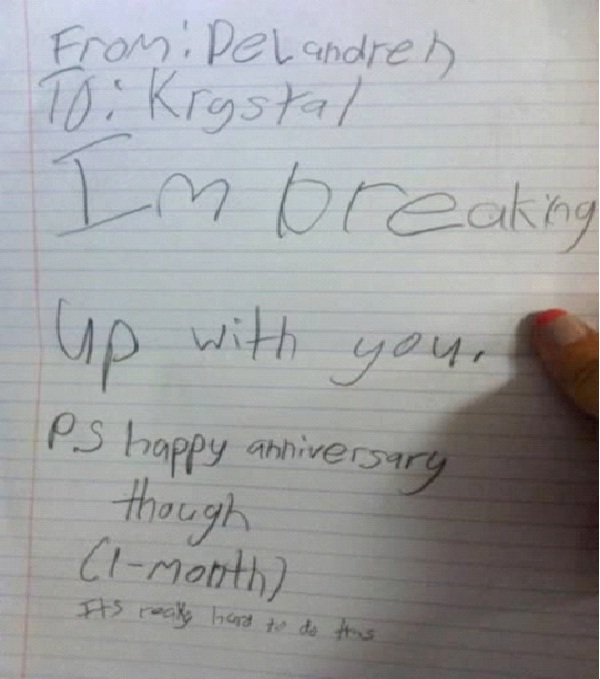 Child's Play-Worst Break Up Letters