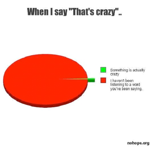 "When I Say ""That's Crazy""-Hilarious Relatable Graphs"