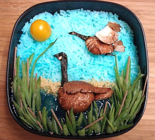 The Geese-Most Creative And Tasty Bento Box Art