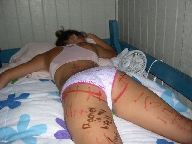 Back To The Drawing Board-Hilarious Pics Of Girls Being Drunk And Passed Out