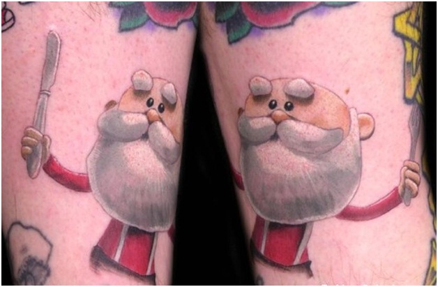 Double -Mint Santa-Craziest Christmas Tattoos