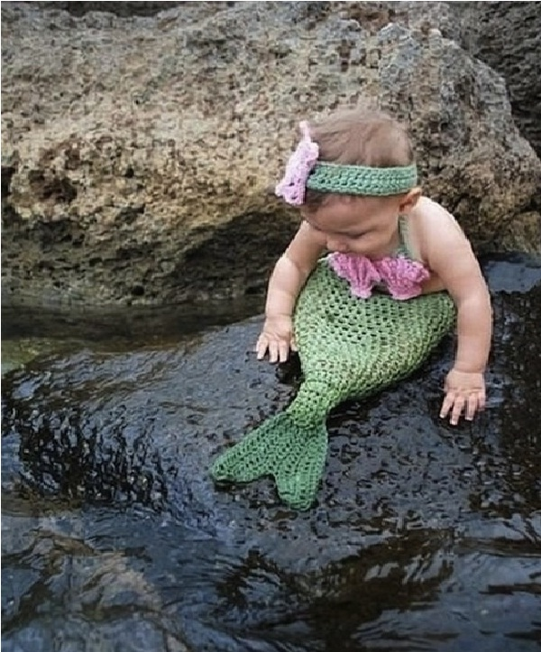 Mermaid-Creative Baby Halloween Costumes