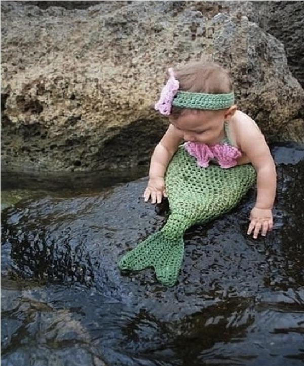Mermaid-Creative Baby Halloween Costumes