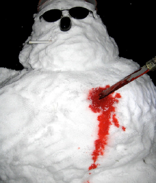Stabbed Snowman-Most Inappropriate Snowmen