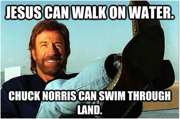 Chuck Norris Swims Through Land-12 Hilarious Chuck Norris Memes Ever