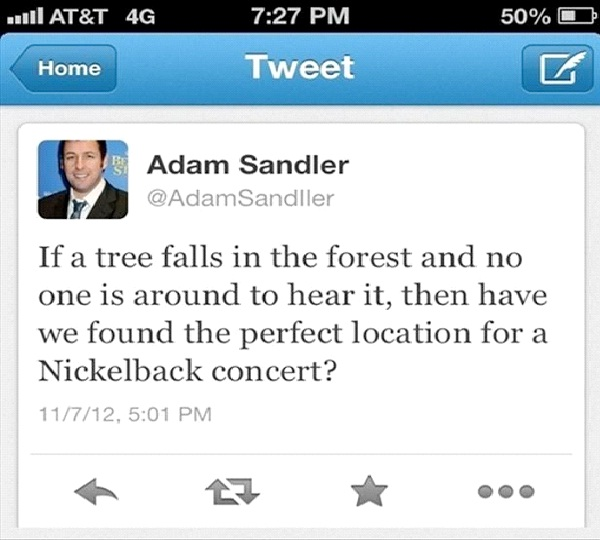 Adam Sandler-Funny Celeb Tweets