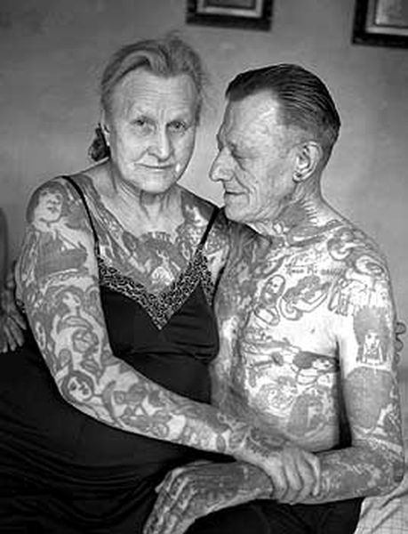 A Couple Together-Old People With Tattoos