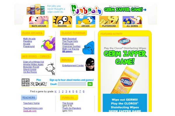 Funbrain.com-Best Educational Websites For Kids
