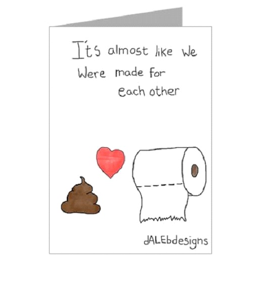 Must Love Poop-Valentine's Day Cards That You Should Not Give Your Partner