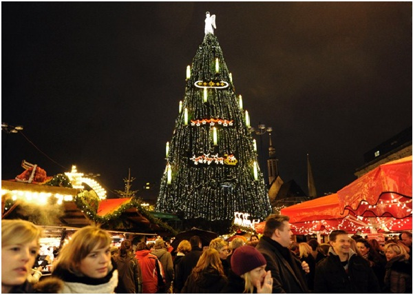 German Waterfall Tree-Most Amazing Christmas Trees From Around The Globe