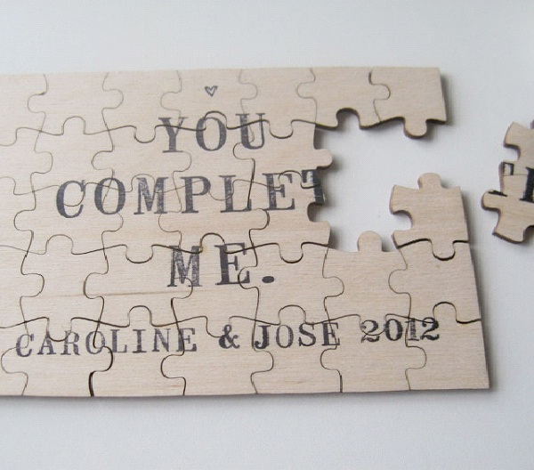 You Complete Me-Creative Pregnancy Announcement Ideas