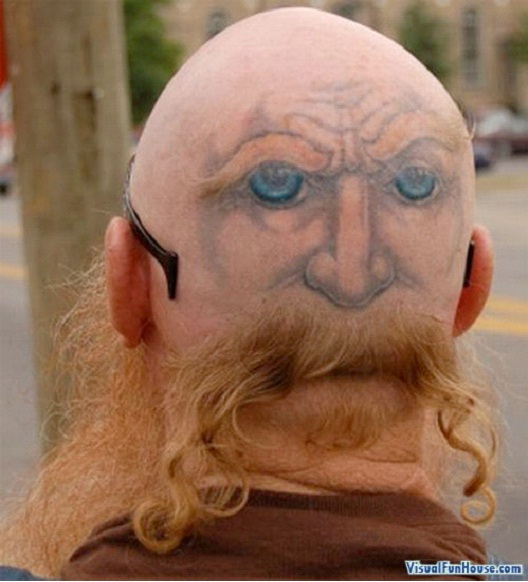 Eyes In The Back Of My Head-24 Most Amazing Illusion Tattoos
