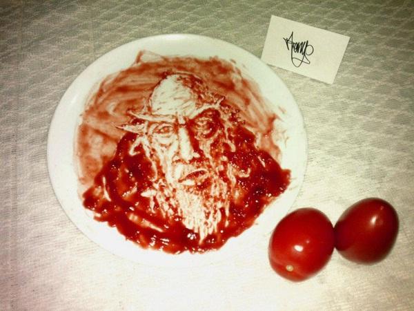 Deckard Cain-Amazing Ketchup Art
