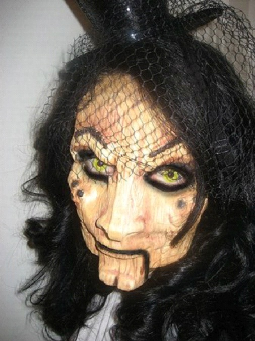Evil Bride-Amazing Wooden Doll Makeup