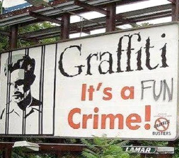 Fun Crime-Funniest Billboard Graffiti