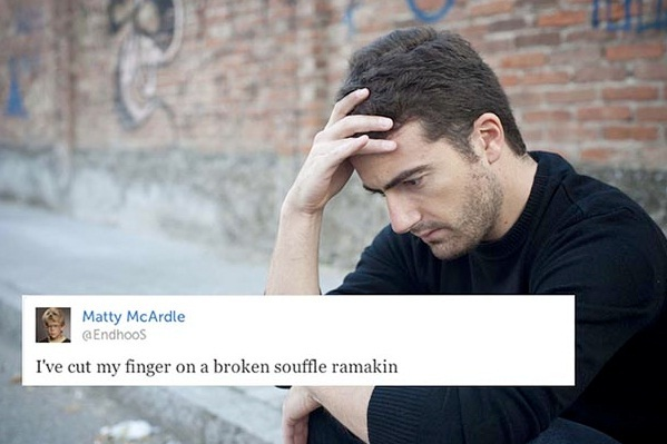Poor finger again-Stupid First World Problems People Posting On Twitter