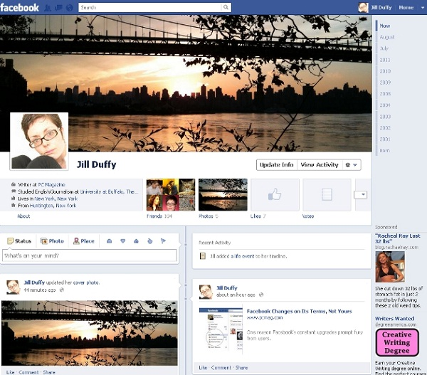Timeline-Facebook Design Changes Over The Years