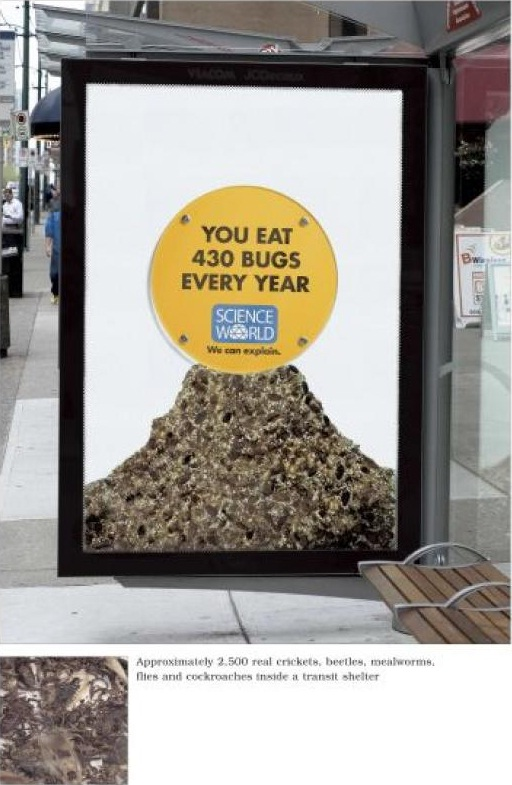"That's A Lot Of Bugs-Clever ""science Can Be Fun"" Ads"