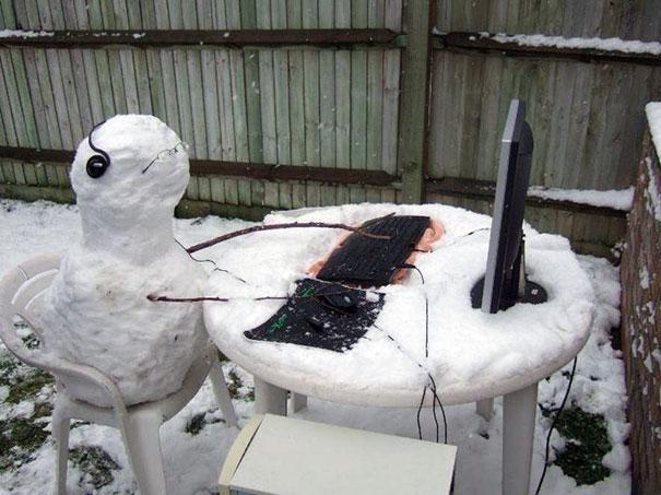Hard at work-Craziest Snowmen Ever
