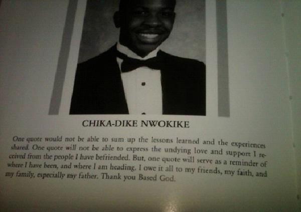 Chika Dike Nwokike-Worst Names For The School Yearbook