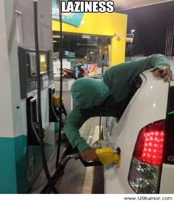 Self Service-Funniest Pics Of Lazy People