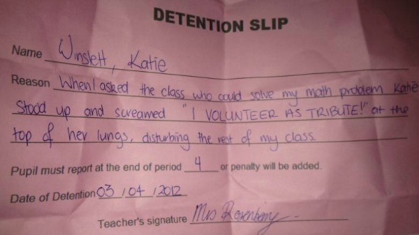 May Be She Was Enthusiastic?-Funniest Detention Slips Ever