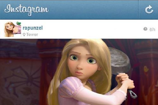 Action Shot!!-If Disney Princesses Had Instagram