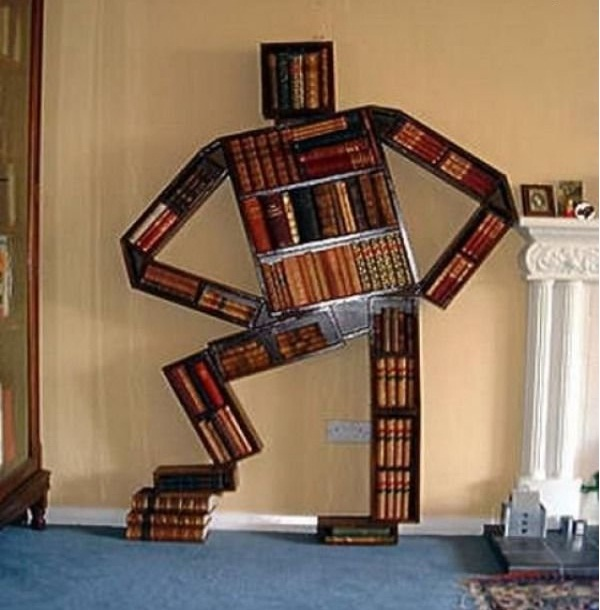 Standing Man-Creative Bookshelf Ideas