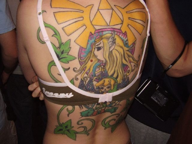 Zelda Back Tattoo-Sexiest Video Game Tattoos