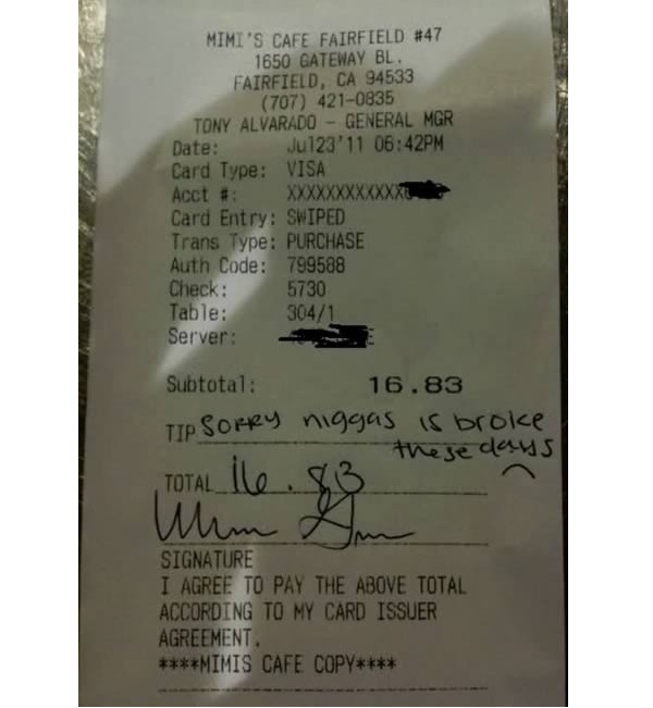 Being Honest-Absolutely Hilarious Receipt Tips