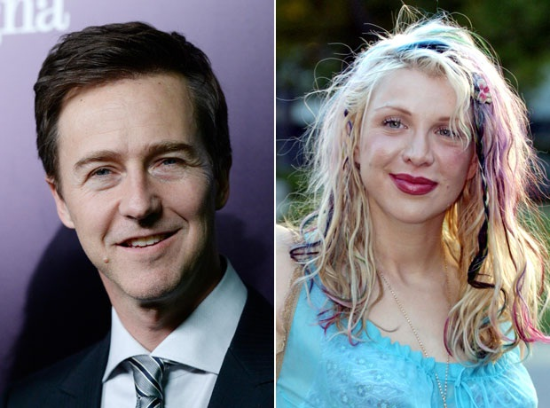 Courtney Love And Edward Norton-Worlds Oddest Couples