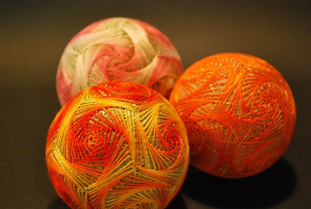 A Huge Collection-Creative Embroidered Temari Spheres By A 92-Year-Old Grandmother
