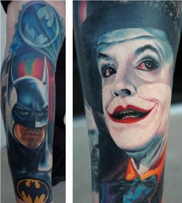 Joker Jack-Batman 3D Tattoos
