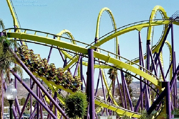 Yellow Cross-Extreme Rollercoasters