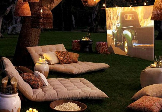 Backyard Movie Theater-Awesome Home Interior Designs Ever