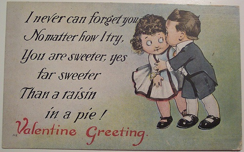 A Forced Kiss-Creepy Valentine's Day Cards