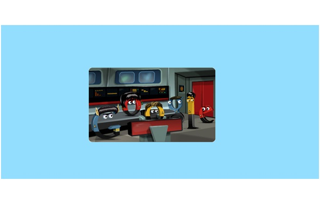 1st Star Trek Broadcast-Amazing Google Doodles