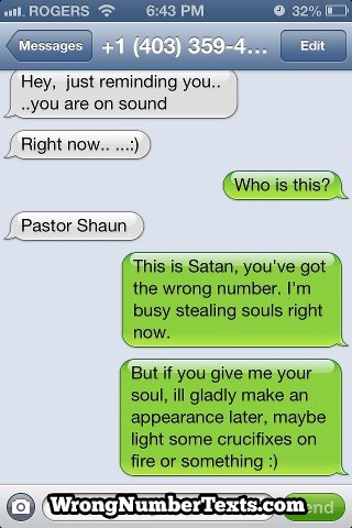 A religious fight-Hilarious Wrong Number Replies