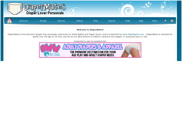 DiaperMates.com-Most Bizarre Dating Websites
