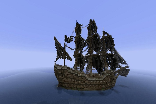 Pirate Ship-Cool Things To Make In Minecraft