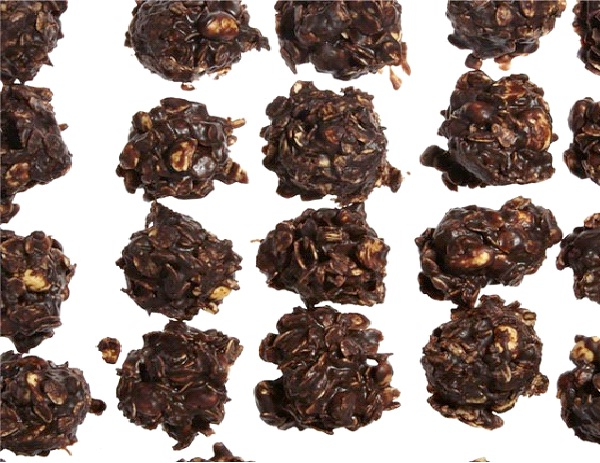No Bake Chocolate, Peanut Butter, And Oatmeal Cookies-Best Vegetarian Christmas Recipes